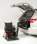 Bruno Model VSL-4000HW Joey™ Vehicle Lift for stowage of your power wheelchair or scooter inside your minivan