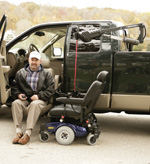 Bruno Model PUL-1100 Out-Rider® Vehicle Lift for truck bed stowage of your power wheelchair or scooter